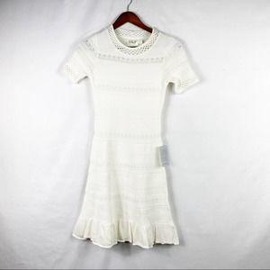 ELIZA J White Short Sleeve Dress NWT in Size XS